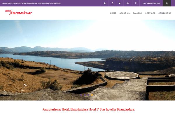 Hotel Amruteshwar website thumbnail